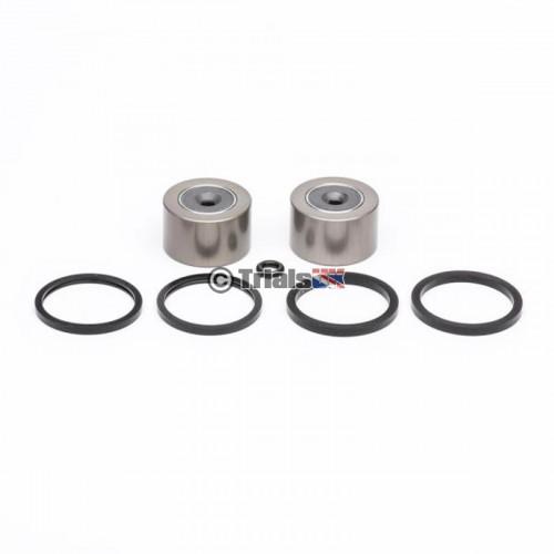 AJP/Braktec 2 Pot 25mm Rear Caliper Repair Kit - Magnetic Pistons - GasGas/Sherco/Montesa/TRS/Vertigo