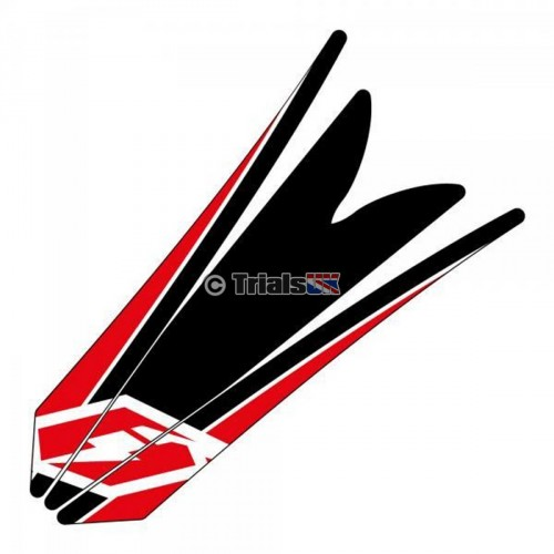 Jitsie Beta Evo Front Mudguard Decal - Black/Red