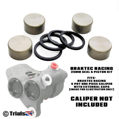 Braktec Front Caliper 25mm Repair Kit - GasGas Factory/Racing/GP - TRS RR - Vertigo