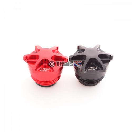 CSP TRS Fuel Tank Cap - ONE/RR/Gold - Red/Black/Gold