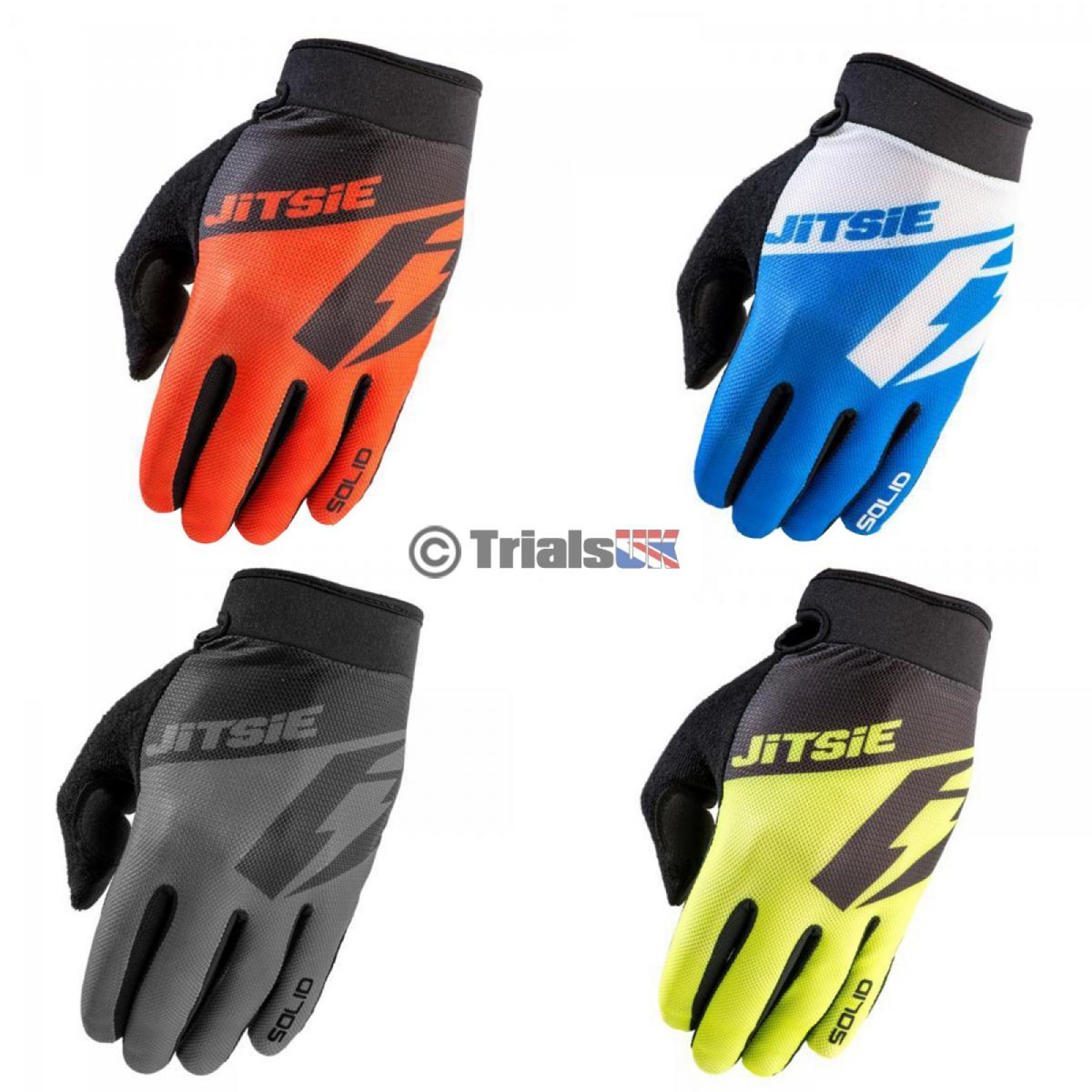Jitsie G2 SOLID Adult Trials Riding Glove Available in 4 Colours