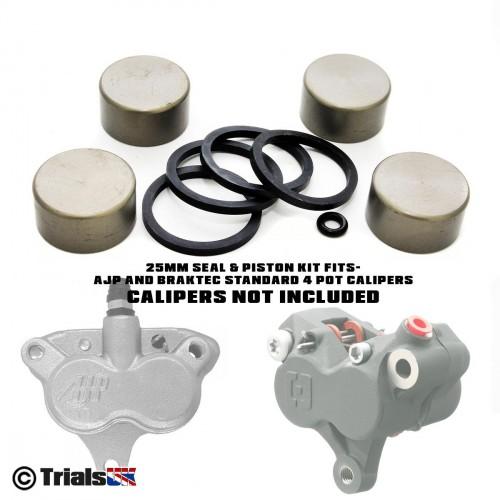 Braktec/AJP 4 Pot 25mm Caliper Repair Kit - GasGas/Sherco/Montesa/Scorpa/Beta