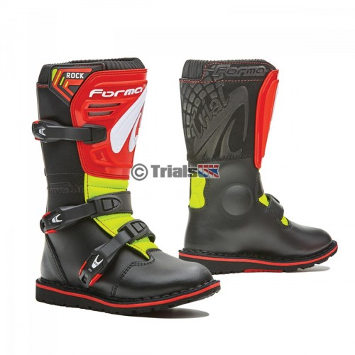 Forma Rock Junior Trials Boot - Black/Red/Yellow