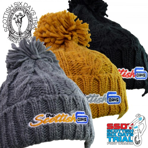 2019 SSDT -The Scottish- Soft Cable Knit Woolly Hat
