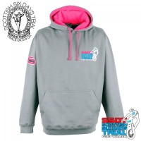 2019 SSDT -The Scottish- Zipped Contrast Grey-Pink Hoodie