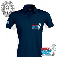 2019 SSDT -The Scottish- Team Contrast Polo Shirt - Blue-White
