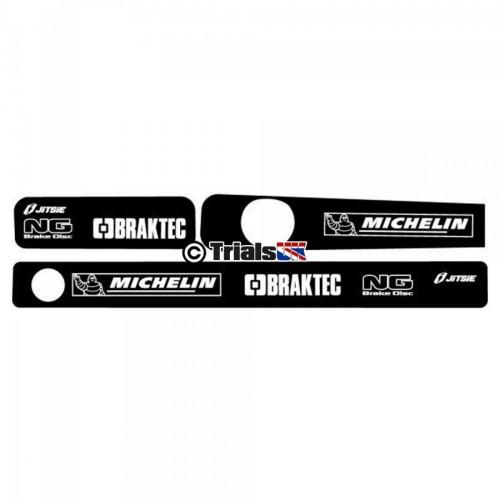Jitsie Montesa 4RT Swingarm Decals - Michelin/Braktec/NG Logo - 2005 - 2019