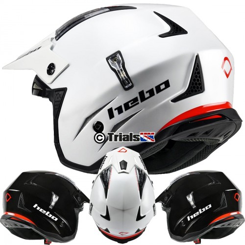 Hebo ZONE 4 MONO COLOUR Trials Helmet - In 2 Colours