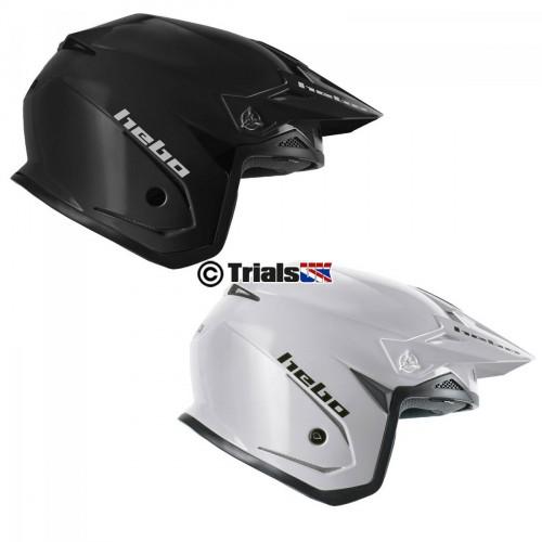 Hebo 2020 ZONE 5 MonoColour Trials Helmet - Drop Down Visor