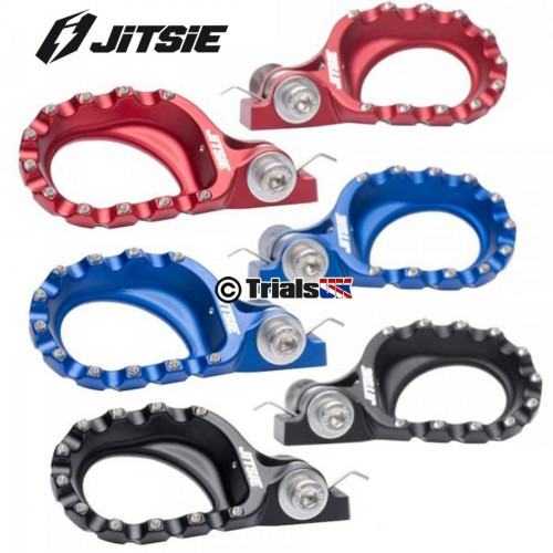 Jitsie LIFT Multi-Position Trials Footpegs - In 3 Colours