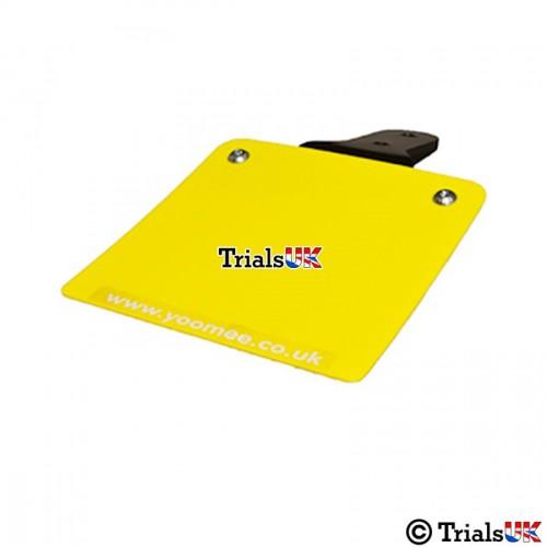 Yoomee Flexible Rear Number Plate - Plain Yellow