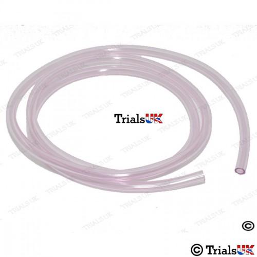 Apico Pink Fuel Overflow/Vent Pipe - 1 Metre Length - 4 x 6mm Diameter