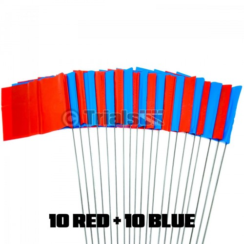 Trials UK Section Flags - 10 Red/10 Blue