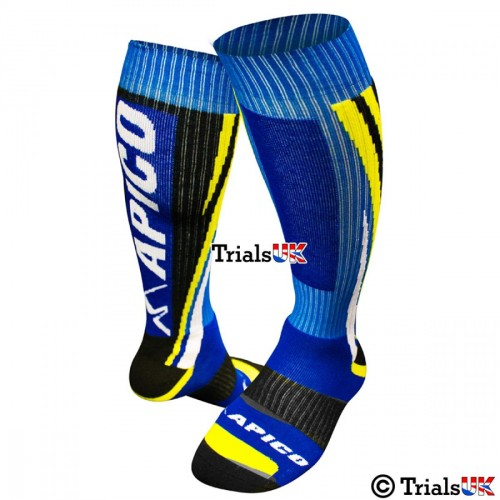 Apico Racing Trials Riding Sock - Kids/Youth/Junior - UK 3-5