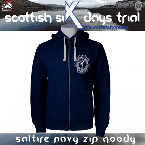 Official SSDT Saltire Junior Hoody in Navy