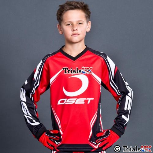 Oset Elite Junior Trials Shirt In Red