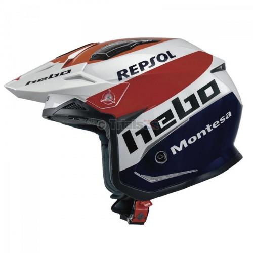 Hebo Zone 5 MONTESA REPSOL TEAM 3 Trials Helmet - Drop Down Visor