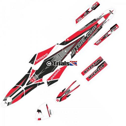 Jitsie GasGas TXT Decal Kit 2013-18 Black/Red/Silver