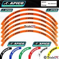 Apico Heavy Duty Wheel Rim Sticker Kit for 18 and 21 Inch trials rims