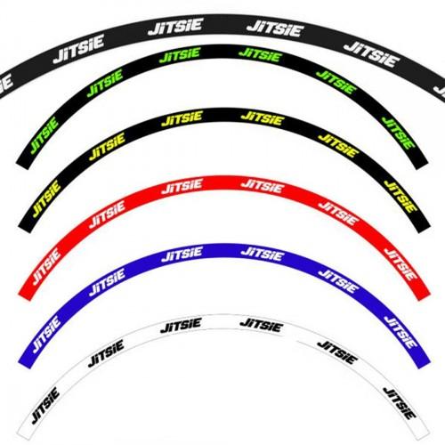 Jitsie Front And Rear Wheel Rim Sticker Set