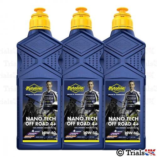 Putoline Off Road 4 Plus Nano Tech Oil - 10W40/10W50/10W60 - 1 litre