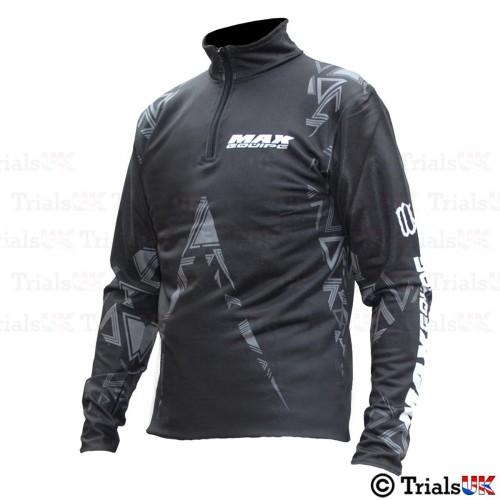Wulf Max Trials Riding Shirt - Black/Grey