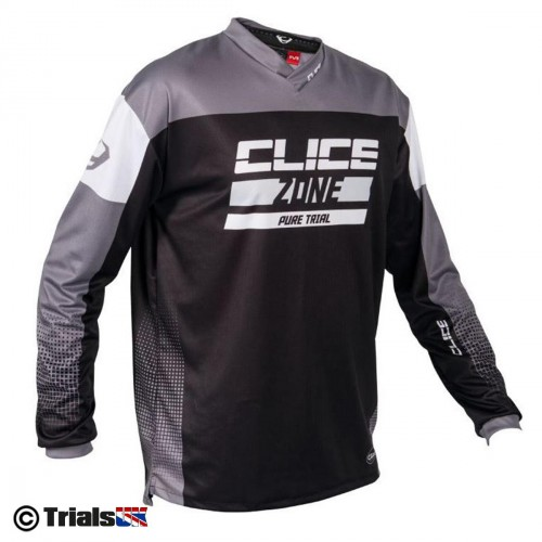 Clice Zone Trials Riding Shirt - Black-Grey