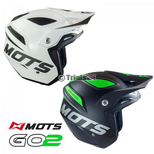 MOTS GO2 Lightweight Fibreglass Trials Riding Helmet - Last Few Remaining At This Price