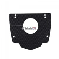 TRS Carbon Look ABS Plastic Splash/Mud Guard - ONE/RR/Gold