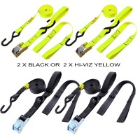 Trials UK Bike/Cargo Strap With Non Scratch Loop Over Strap - Twin Pack