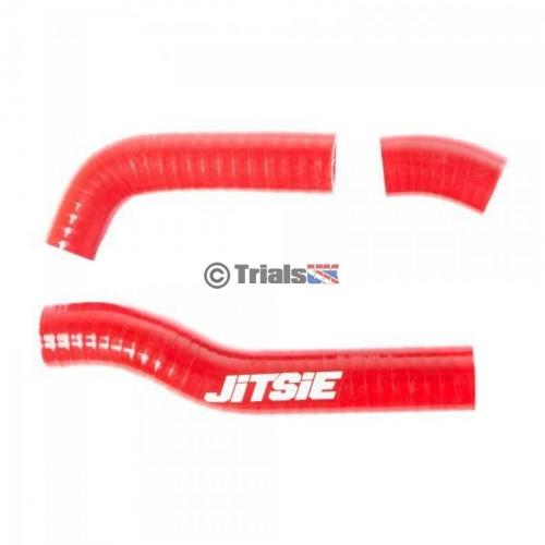 Jitsie GasGas Red Radiator Hoses - TXT Pro/Raga/Racing/Factory - 2014 Onwards